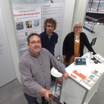 Thomas Schatz, Sebastian Wolf vom Ubineum aus Zwickau und die Autorin Nina Efker aus Solingen.