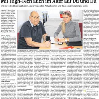 Reportage über die Sprechstunde in der TAKSI-Zentrale in Wernigerode von Vera Heinrich, erschienen am 1. April 2019 in der Harzer Volksstimme.