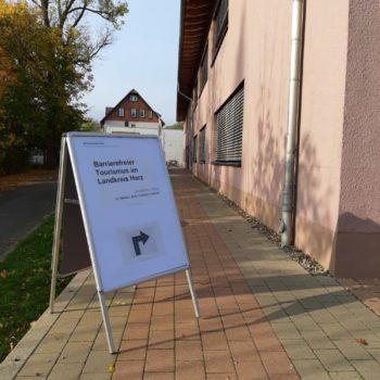 """Die Fachtagung """"Barrierefreier Tourismus im Landkreis Harz"""" fand am 23. Oktober 2019 in der Papierfabrik der Hochschule Harz in Wernigerode statt."""