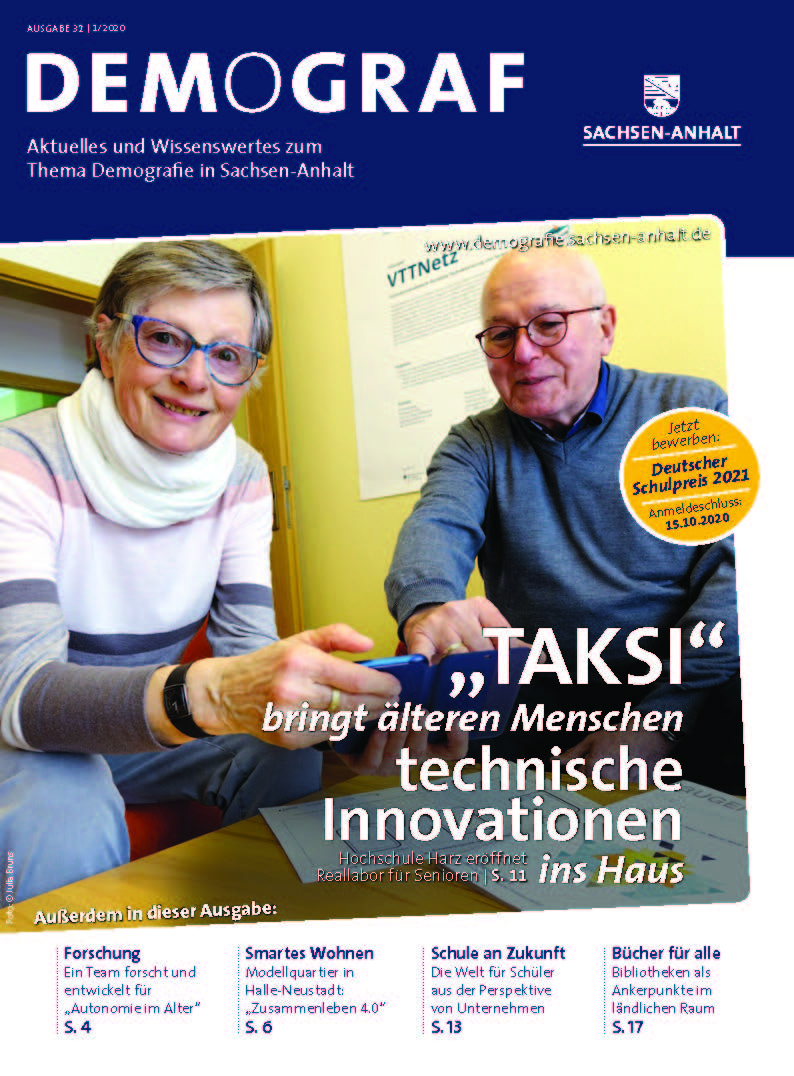 "Titel des Newsletters ""Demograf"" von April 2020"