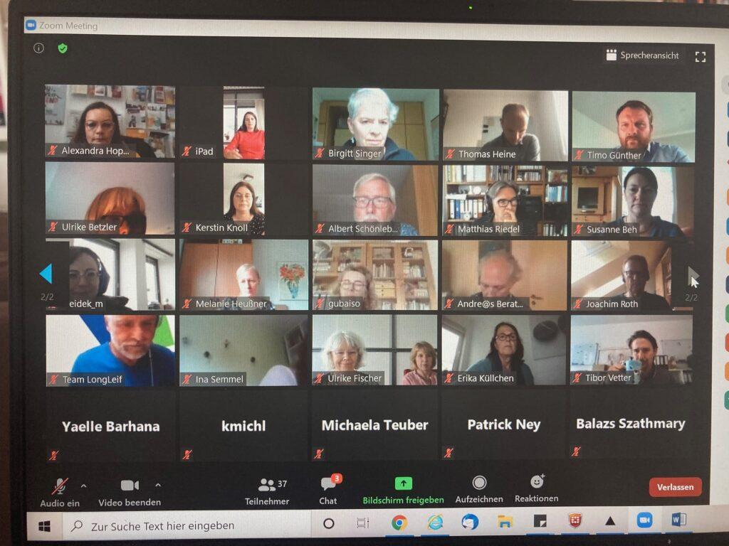 Teilnehmer*innen des ersten virtuellen Austauschtreffens der Wohn- und Technikberater*innen am 16. Juni 2020