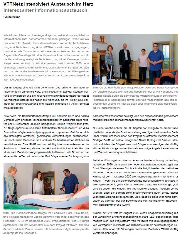 """Artikel im Magazin des Fachbereichs Verwaltungswissenschaften """"Schlaglichter"""" vom Dezember 2020"""