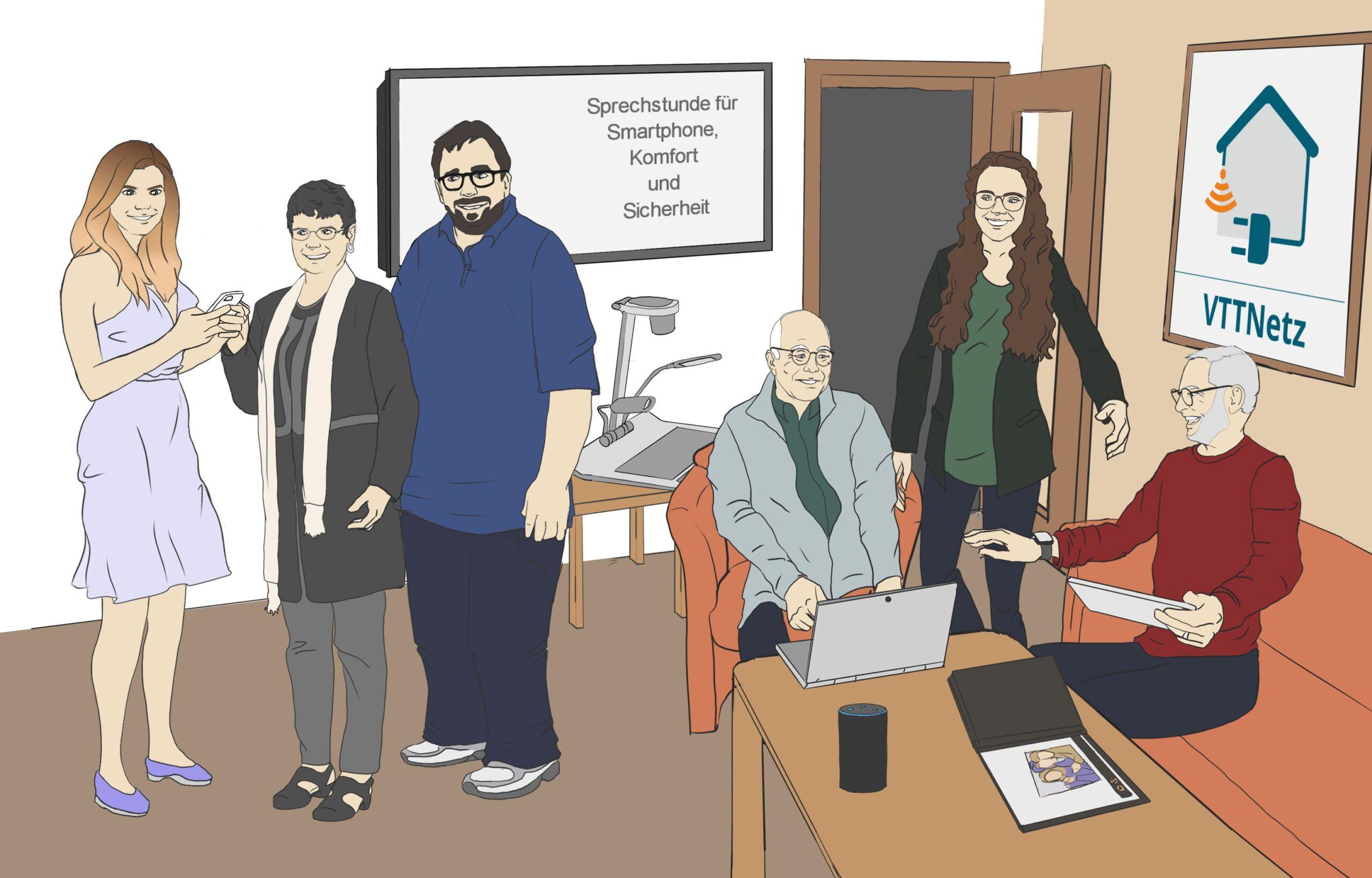 Gruppenbild VTTNetz Team Ehrenamt und Hauptamt